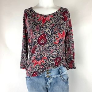 Lucky Brand Women's 3/4 Sleeve Tee Shirt Size S